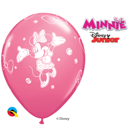Disney Minnie Mouse Pink 6pk with Helium