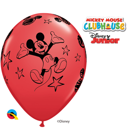 Disney Mickey Mouse Red 6pk with Helium