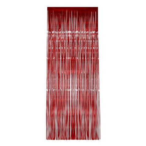Red Shimmer Curtain