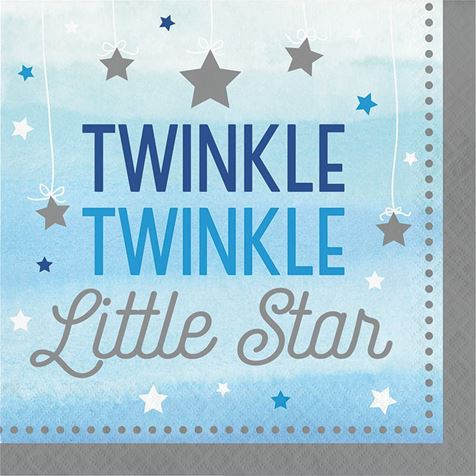 Twinkle Little Star Blue Napkins