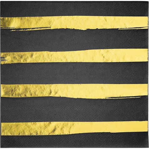 Gold Foil Stripe Napkins