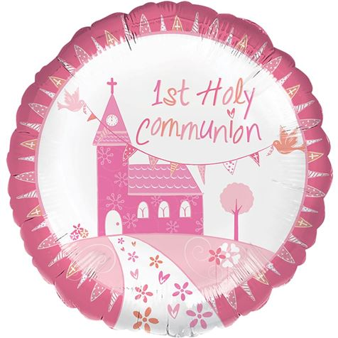 Holy Communion Pink Foil