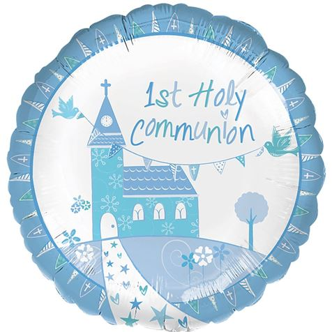 Holy Communion Blue Foil