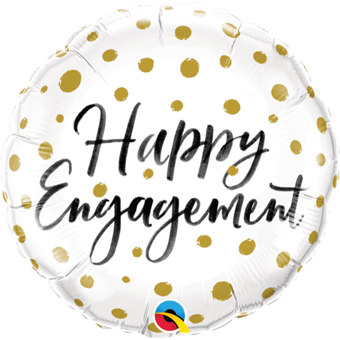 Happy Engagement Dots Foil