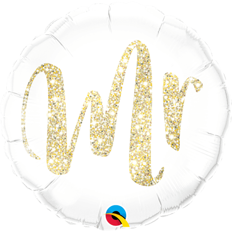 'Mr' Gold Foil Balloon