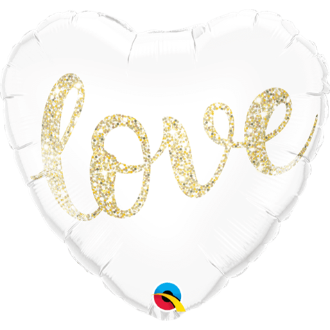 'Love' Gold Foil Balloon