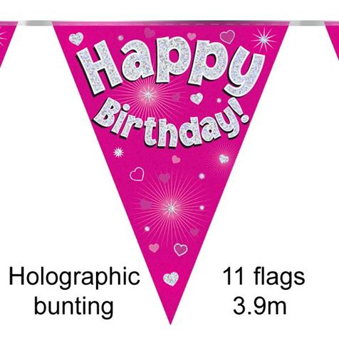 Happy Birthday Bunting Pink