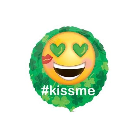 Kiss Me Emoticon Foil Balloon