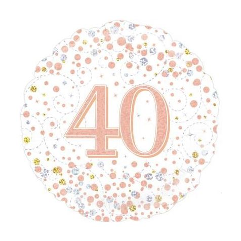 Age 40 Rose Gold Birthday Foil