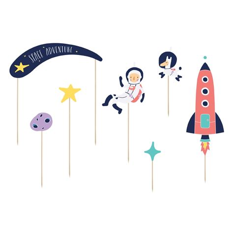 Space Cake Topper 7-piece