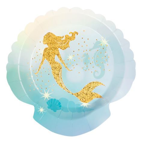 Mermaid Plates 6pk