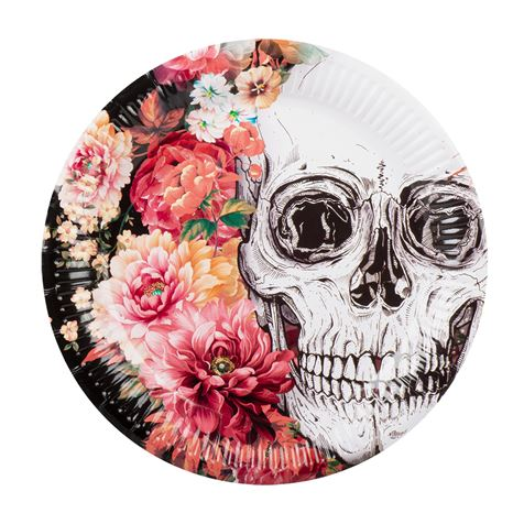 Day Of The Dead Plates 6pk