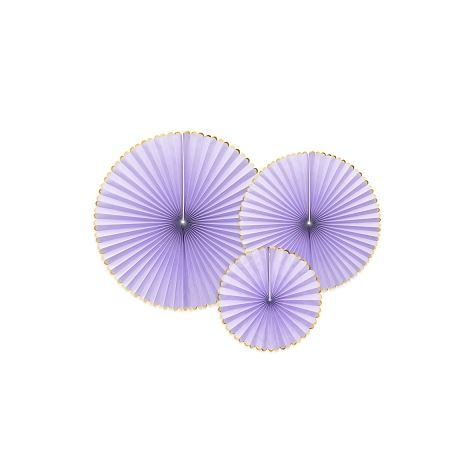 Light Lilac Hanging Rosettes