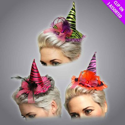 Clip-On Witch Hats