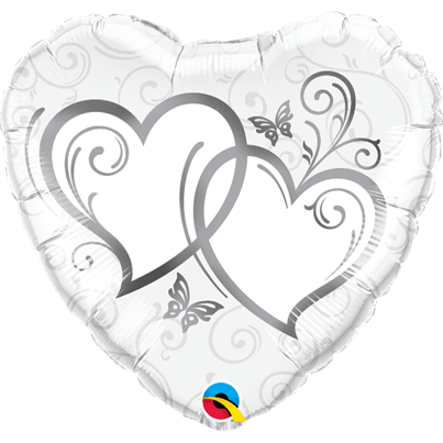 Silver Entwined Hearts Foil