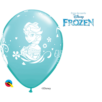Qualatex Disney Frozen Ice Blue 6pk UNINFLATED
