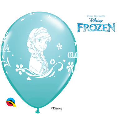Qualatex Disney Frozen Ice Blue 6pk INFLATED
