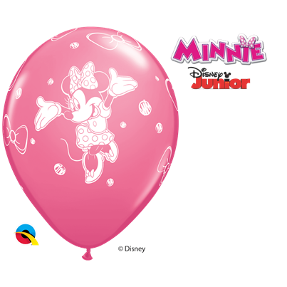 Qualatex Disney Minnie Mouse Pink 6pk with Helium