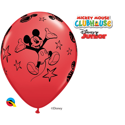 Qualatex Disney Mickey Mouse Red 6pk with Helium