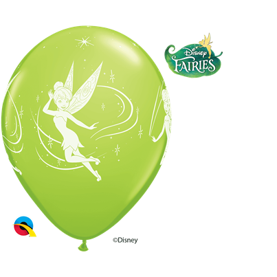 Tinkerbell Lime Green 6pk with Helium