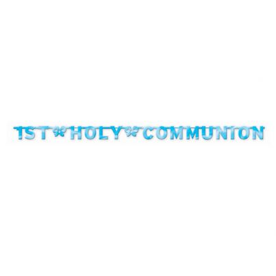 Amscan Holy Communion Letter Banner