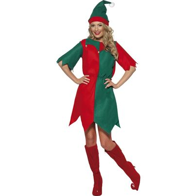 Smiffys Elf Hat and Tunic
