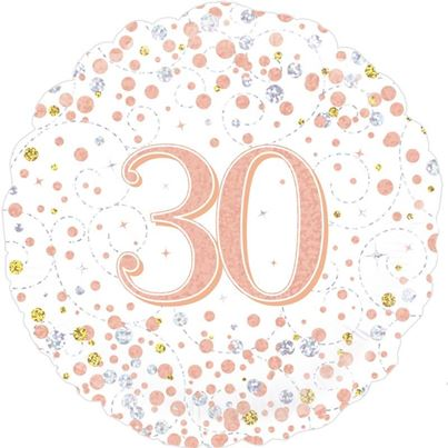 Age 30 Rose Gold Birthday Foil