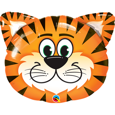 Qualatex Tiger Face Supershape Foil