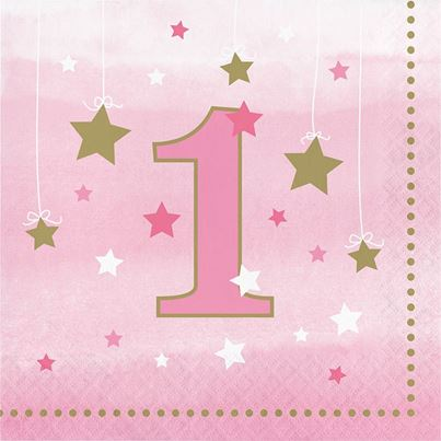 Creative Party One Star Pink Napkins