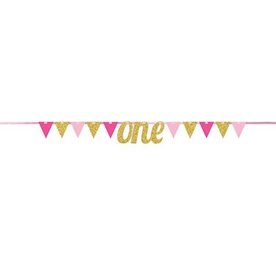 Creative Party Pink Pennant Banner