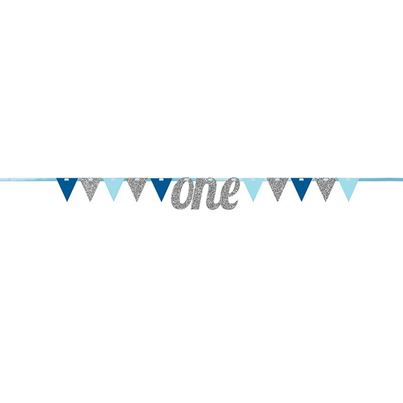 Creative Party Blue Pennant Banner