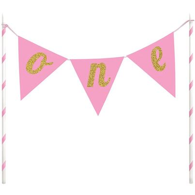 Creative Party Pink Cake Topper