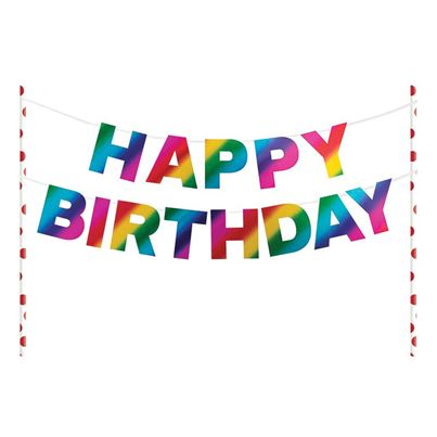 Creative Party Happy Birthday Pennant Cake Topper