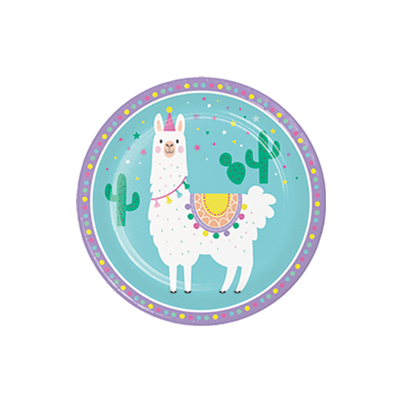 Creative Party Llama Paper Plates 8pk