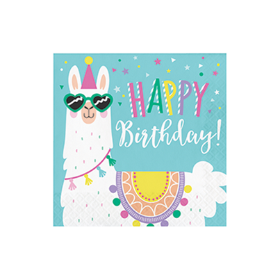 Creative Party Llama Paper Napkins 16pk