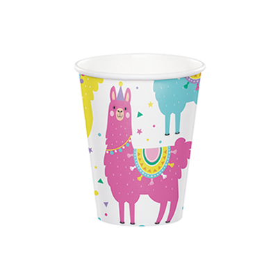 Creative Party Llama Paper Cups 8pk