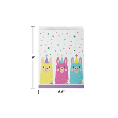 Creative Party Llama Party Bags 10pk