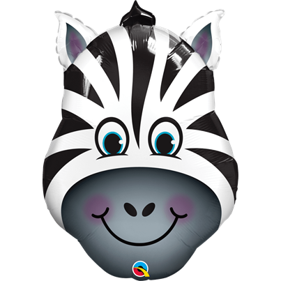 Qualatex Zebra Face Supershape Foil