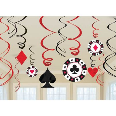 Casino Swirl Decorations