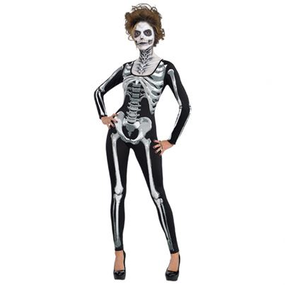 Black and Bone Skeleton Catsuit