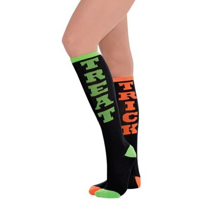 Amscan Trick-or-Treat Knee High Socks
