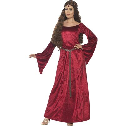 Red Medieval Maid Costume