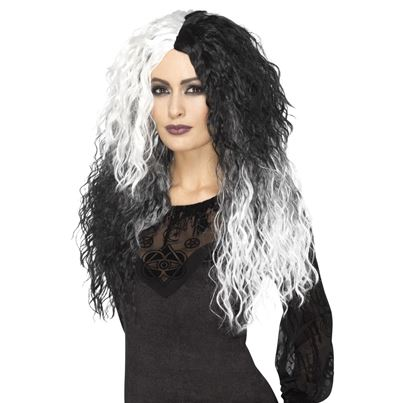 Black and White Glam Witch Wig