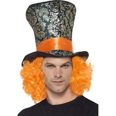Smiffys Mad Hatter Hat with Hair