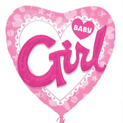 Amscan Baby Girl Multi Balloon