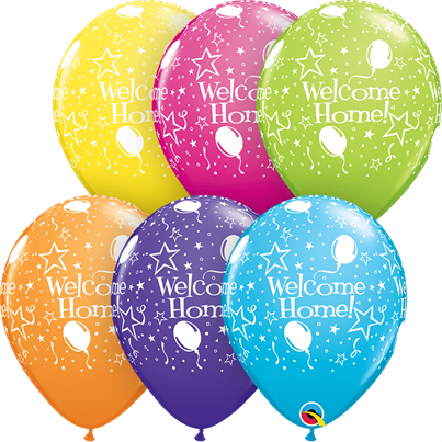 Qualatex Welcome Home Tropical 6pk with Helium