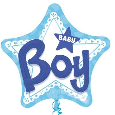 Amscan Baby Boy Multi Balloon