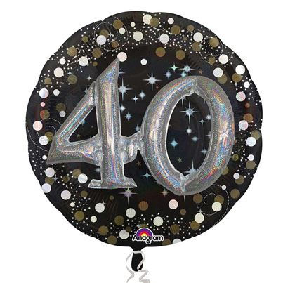 3D Sparkling Birthday 40