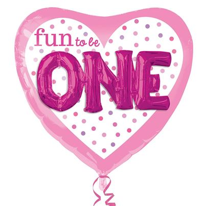 Fun To Be O-N-E Girl Multi Balloon