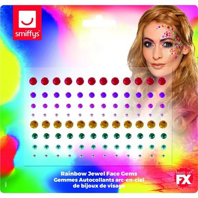 Smiffys Rainbow Face Jewels 100pc
